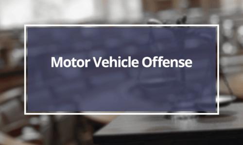 Motor-Vehicle-Offense