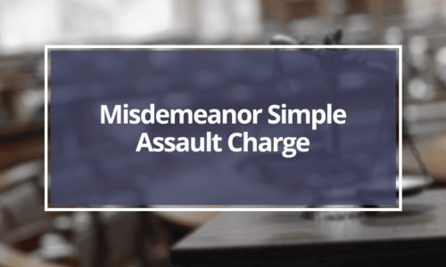 Misdemeanor-Simple-Assault-Charge
