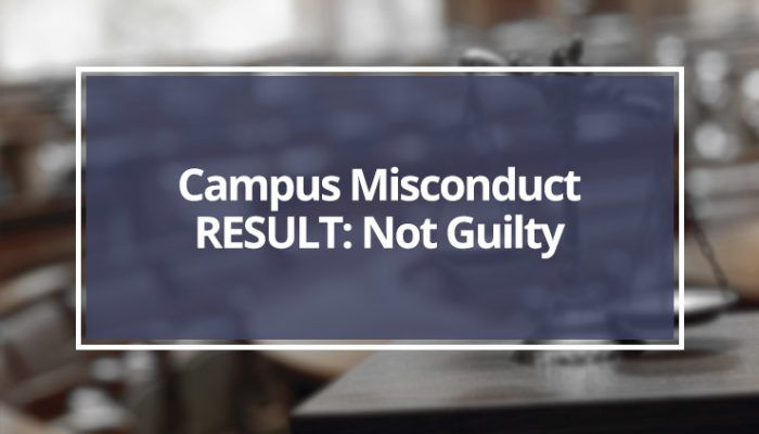 Campus Misconduct Not Responsible